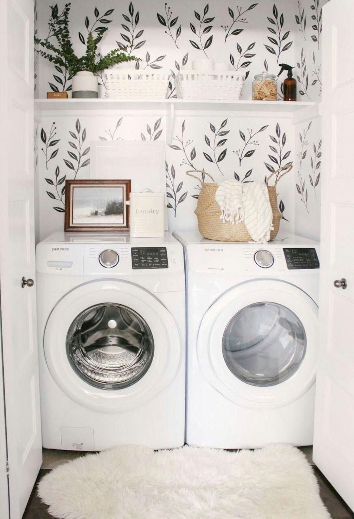 15 Clever Laundry Room Ideas That Are Practical And Space Efficient Tiny Laundry Rooms Laundry Room Inspiration Small Laundry Rooms