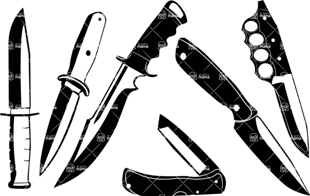 Graphicmama Vector Knife Silhouettes Set Silhouette Vector Nature Vector