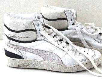 Vintage 80s Puma Majesty Mens Hi Tops Ralph Sampson Deadstock New Shoes New Shoes Puma Vintage Shoes