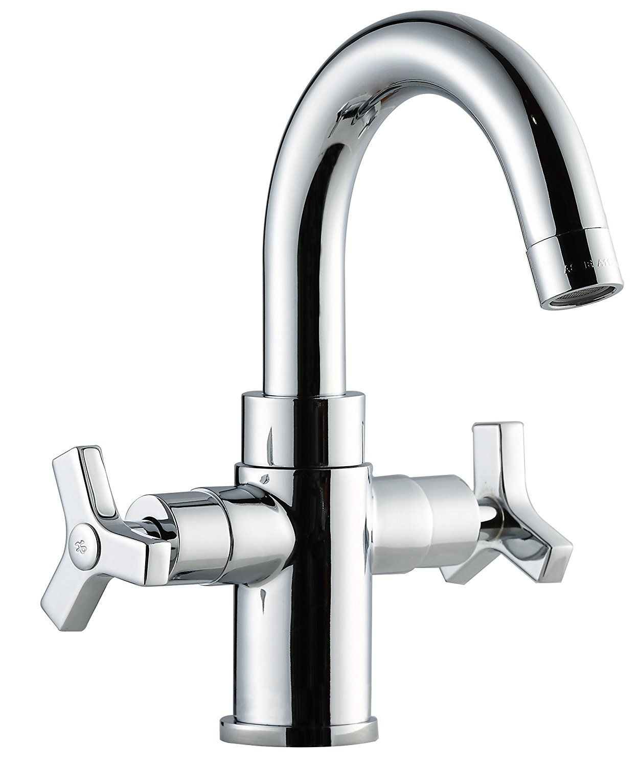 Derengge F-0081-CP Two-Handle Single Hole Bathroom Sink Faucet cUPC ...
