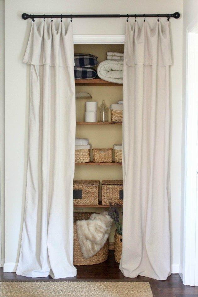 Closet Door Alternative Easy Drop Cloth Curtains Curtains For