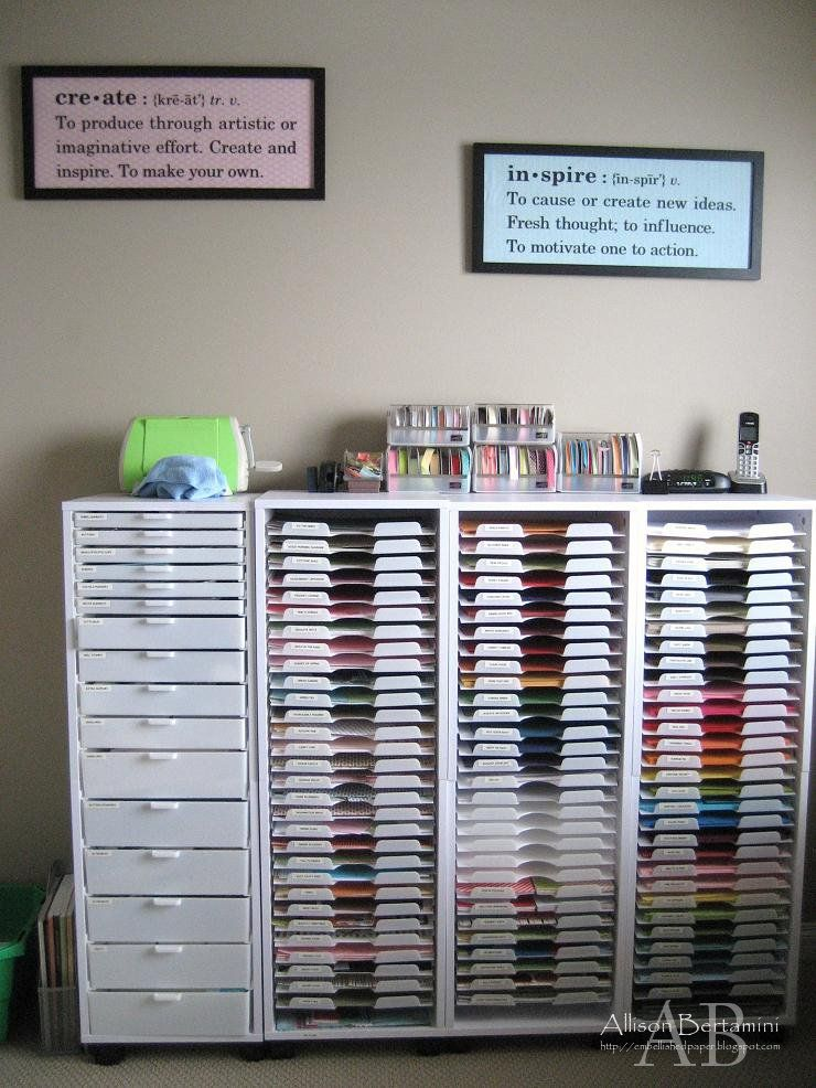 Craft Storage Ideas Craftroom Organization Paper