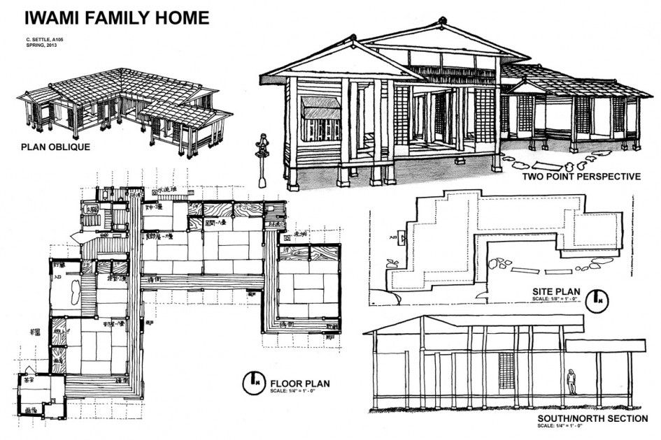 Traditional japanese home floor plan cool japanese house for Japanese house floor plan design