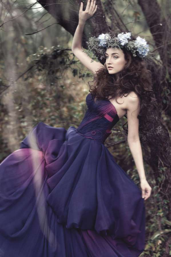 Flower Maiden Fashion Editorials - The Gladys Ng 'Painting a Garden' Photoshoot is Whimsical (GALLERY)