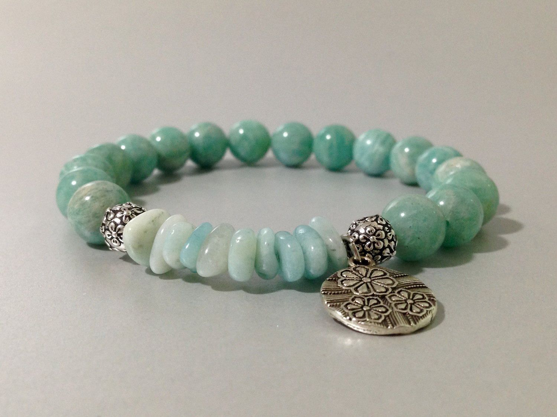 Pulsera de Amazonita Rusa,Amazonita Chips,piedras semipreciosas,joyas de amazonita,pulseras de piedras,piedras,regalo para mujer,regalos de DeMaiCreaciones en Etsy