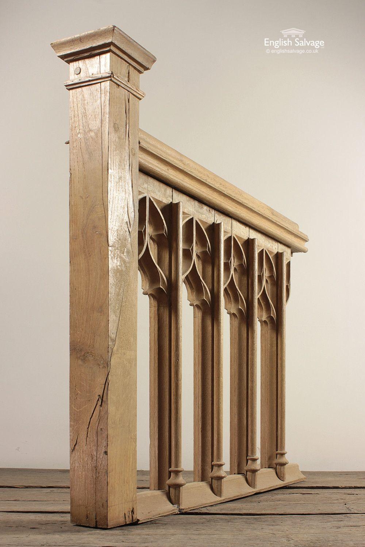 Best Reclaimed Oak Gothic Altar Stair Rail Stair Railing 400 x 300