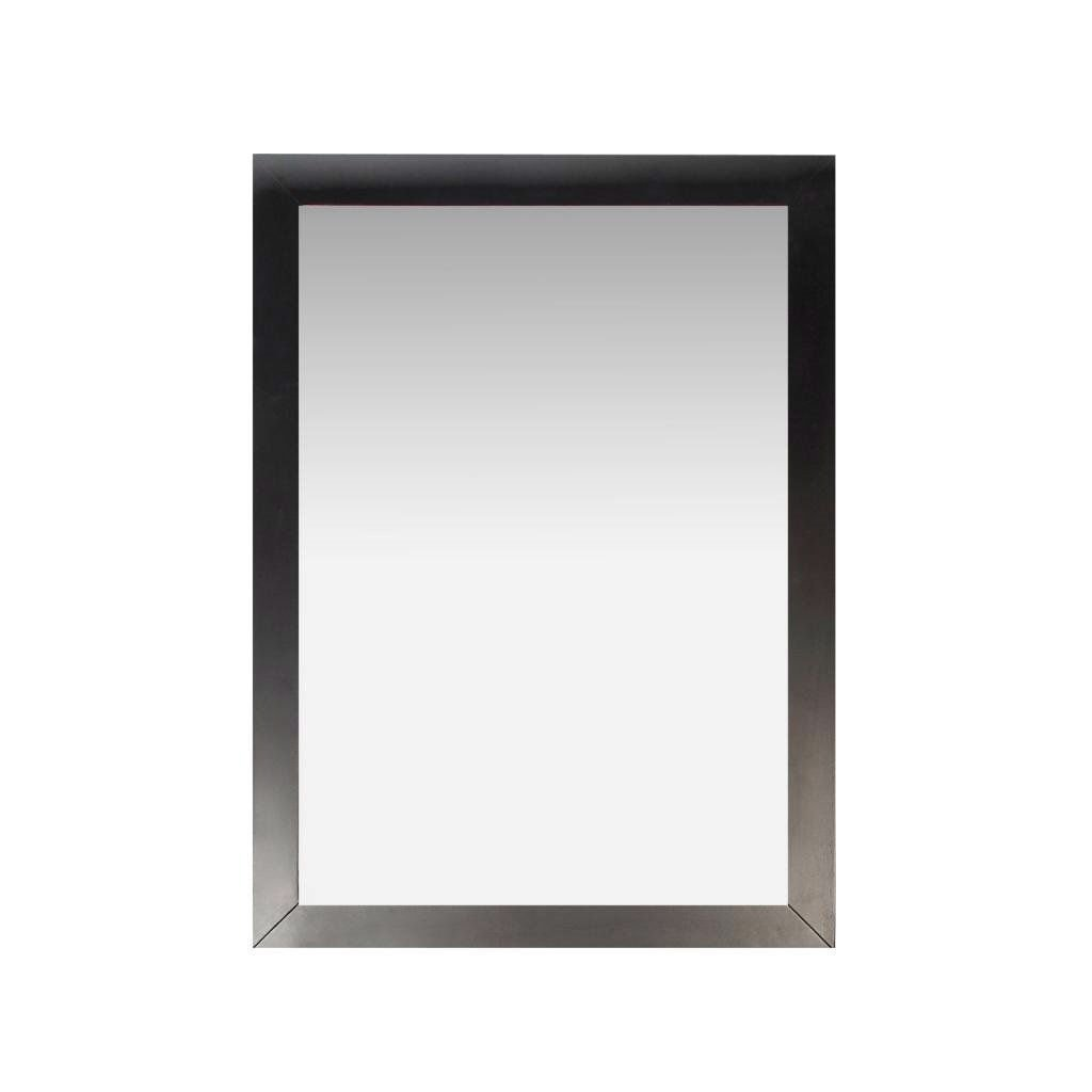 Modern 22-inch x 30-inch Bathroom Vanity Wall Mirror with Black Wood ...