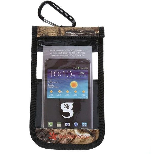 geckobrands Waterproof iPhone 6 Plus / Large Cell Phone Dry Bag,... ($30) ❤ liked on Polyvore featuring accessories, tech accessories and realtree camo