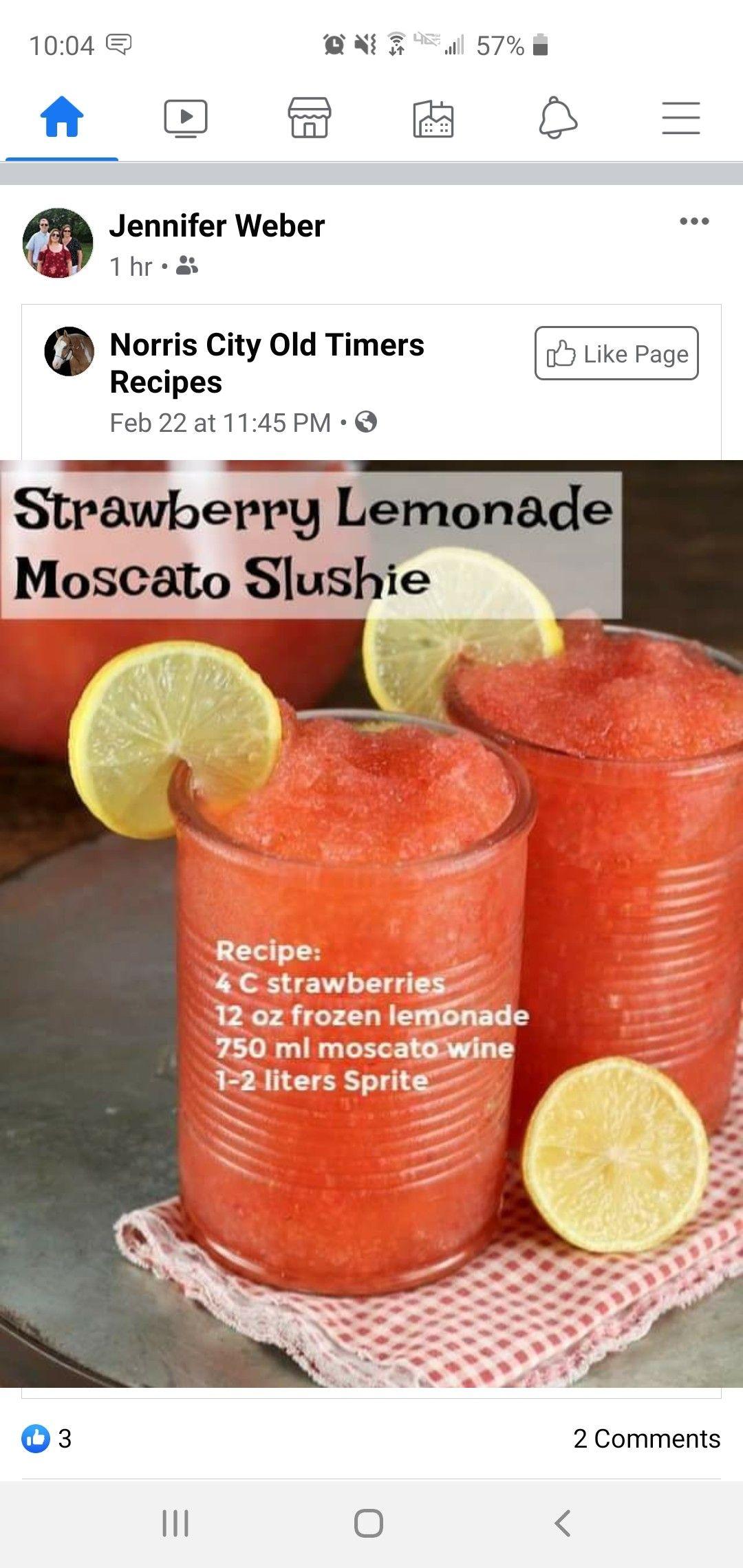 Moscato Slushie In 2020 Slushie Recipe Frozen Lemonade Strawberry Lemonade