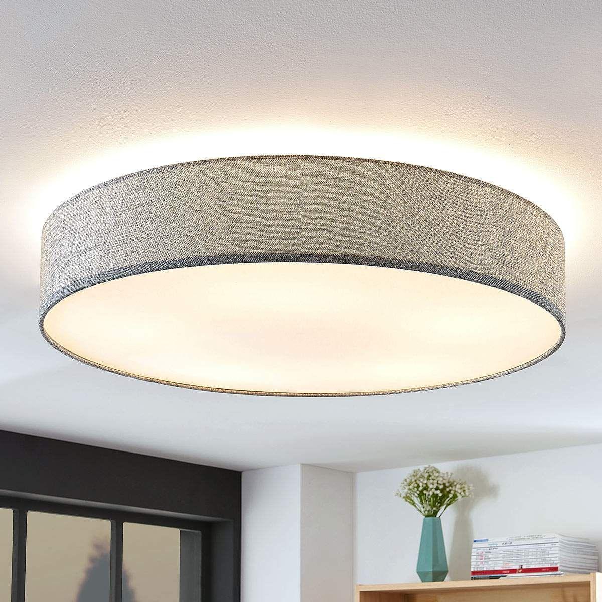 Stoff-Deckenlampe Gordana in Grau  Deckenlampe, Lampe, Lampen