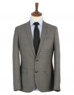 Harry Brown Grey Prince Of Wales Check 2 Piece Suit
