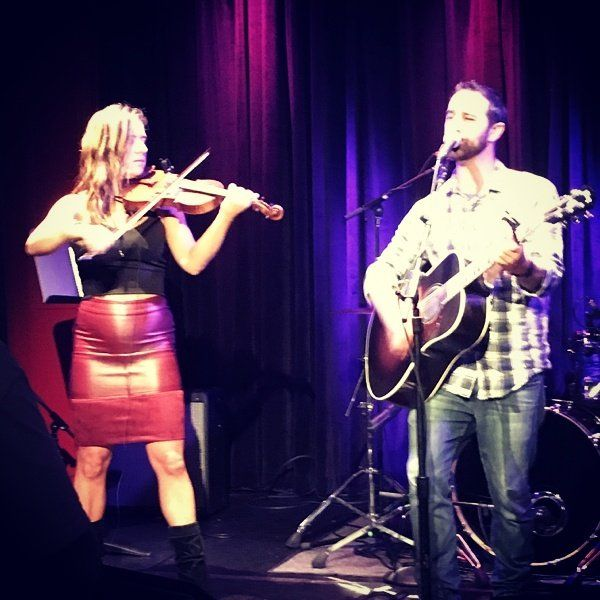 Nice shot from the crowd during our set! with me on Violin is Katie #Breakthrough #Falltour