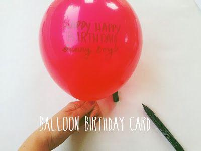 D.I.Y balloon birthday card | Shakeshakee