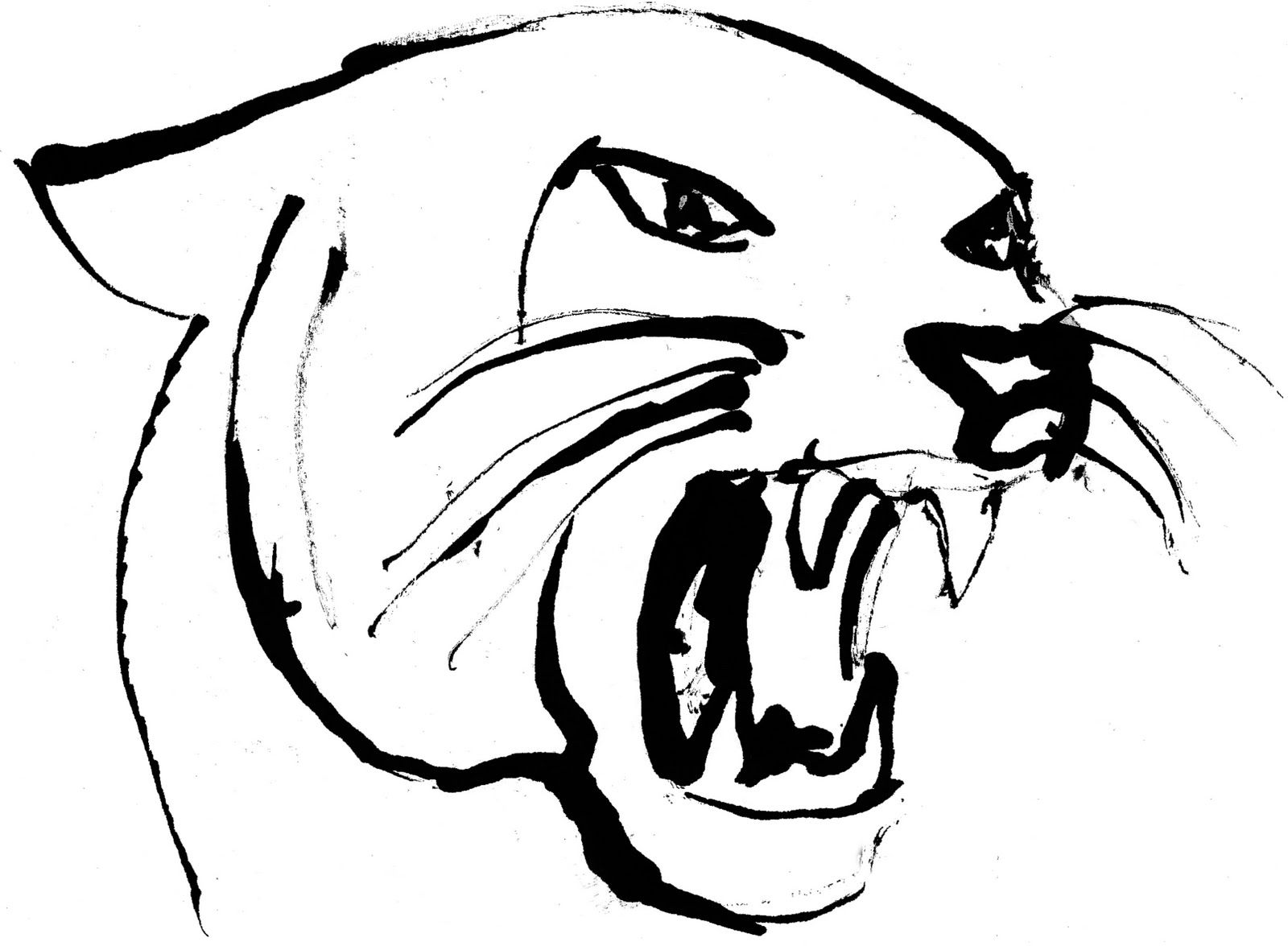 free panther head clipart image 11794 panther head clipart rh pinterest com