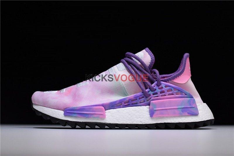 Pharrell X Adidas Nmd Hu Trail Holi Powder Dye Pink Glow Ac7362