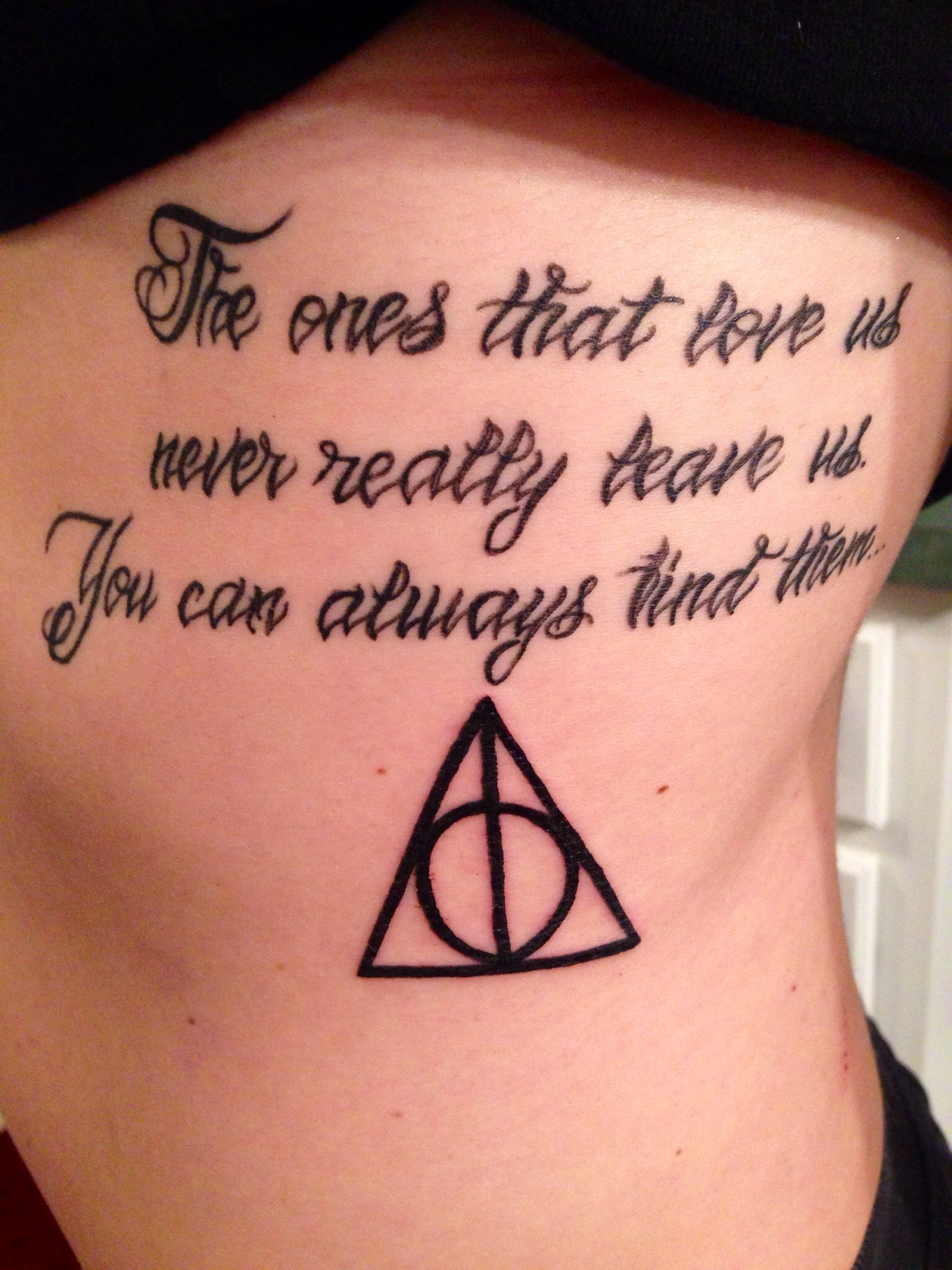 My Sirius Black quote tattoo with the Deathly Hallows