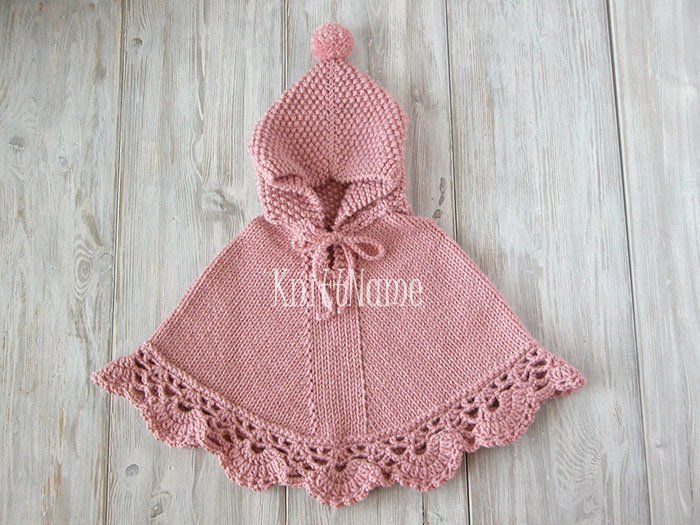 Baby Crochet Poncho Hooded Knit Poncho Baby Girl Cape | Etsy