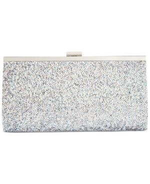 b5fe0bb791c Inc International Concepts Lexy Clutch, Only at Macy's - Silver ...