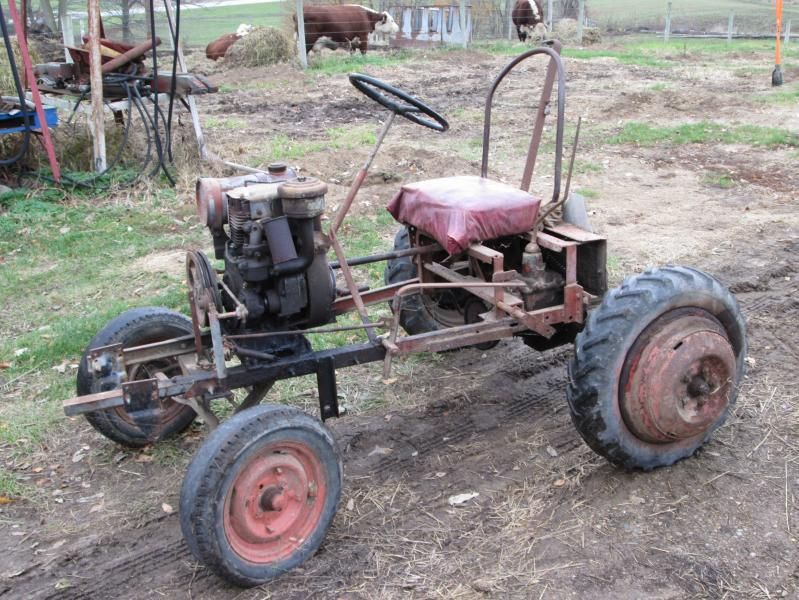 Small Homemade Tractors : Homemade tractor attached thumbnails excavator