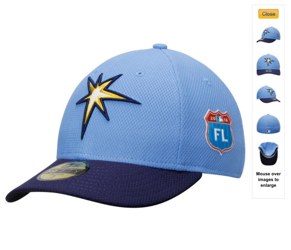 ccc74af27c9 Men s New Era Light Blue Navy Tampa Bay Rays Spring Training Diamond Era  Low Profile 59FIFTY Fitted Hat