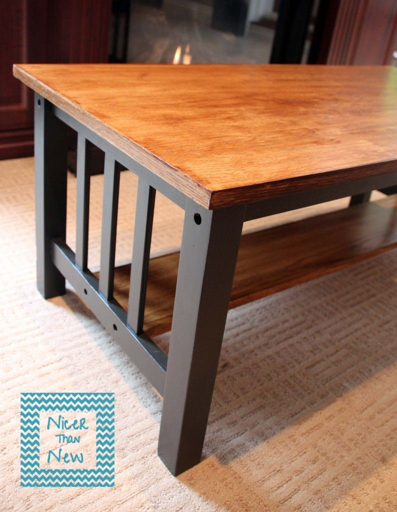 Mission style table makeover