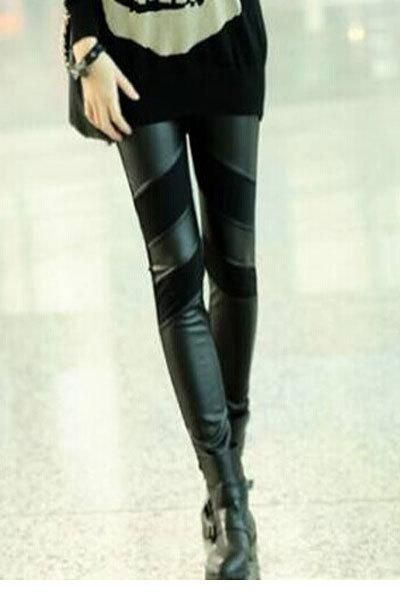 Find More Leggings Information about 2015 new fashion autumn winter leggings women slim legging pant hot sale Stylish PU Patchwork Stretch Black Leggings LC79524,High Quality leggings set,China leggings tops Suppliers, Cheap leggings spandex from Sexy Dear Lover  on Aliexpress.com