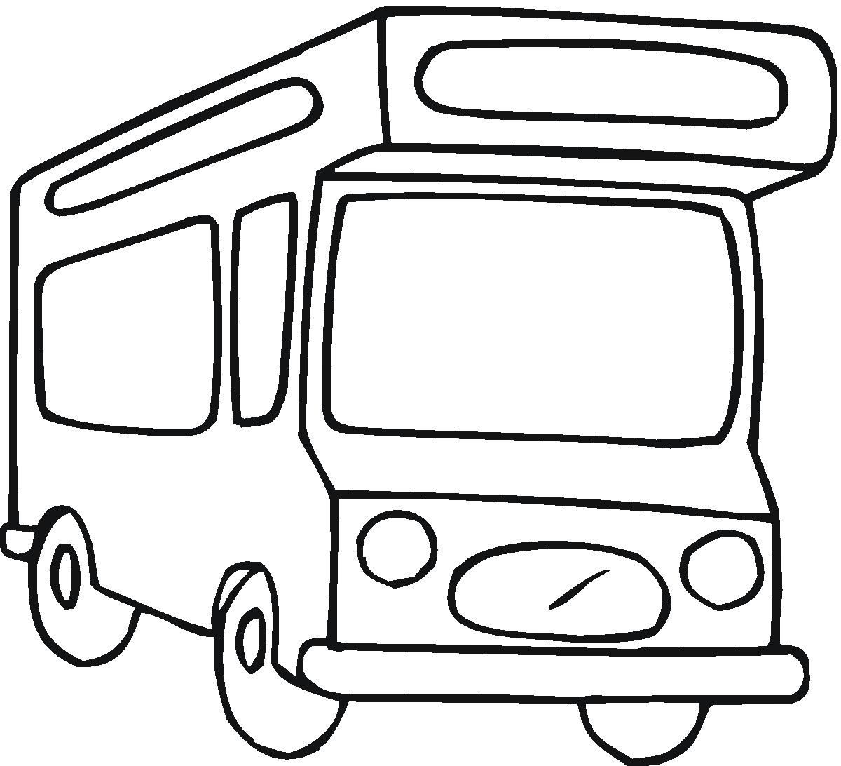 Bus With A Large Roof | Bus Coloring Pages | Pinterest