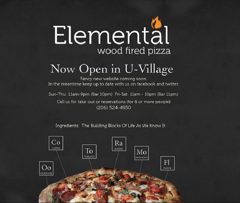 Elemental Pizza has a great happy hour and yummy pizza.
