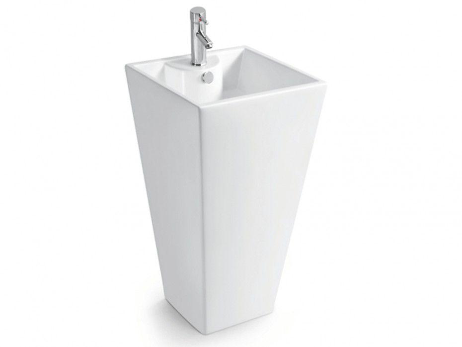¡Opta por este lavabo de pie rectangular SIFNOS que ...