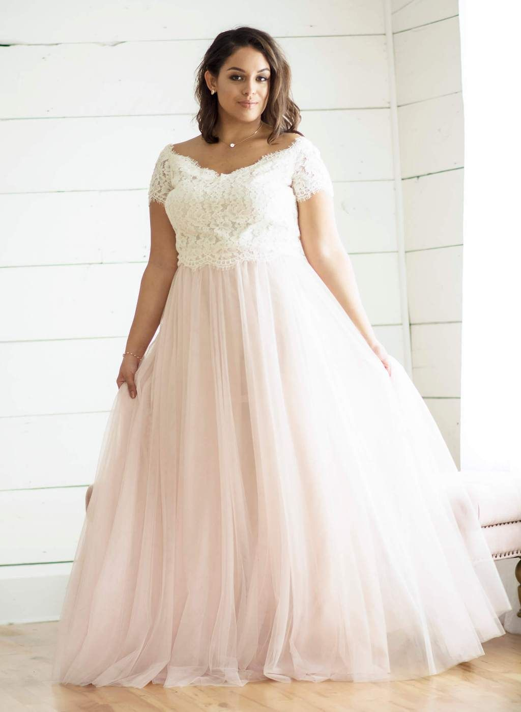 66ec542131b Plus Size Bridesmaid Separates by Love Tanya. Zenia Lace Top and Leighton Tulle  Skirt.