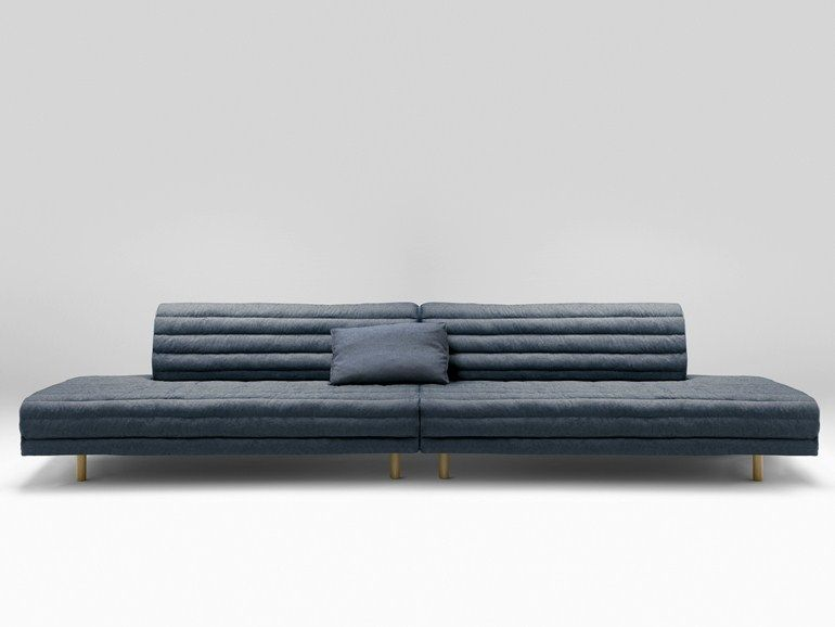 Upholstered 4 seater fabric sofa Kouet Collection by Bosc | design Samuel Accoceberry, Jean Louis Iratzoki
