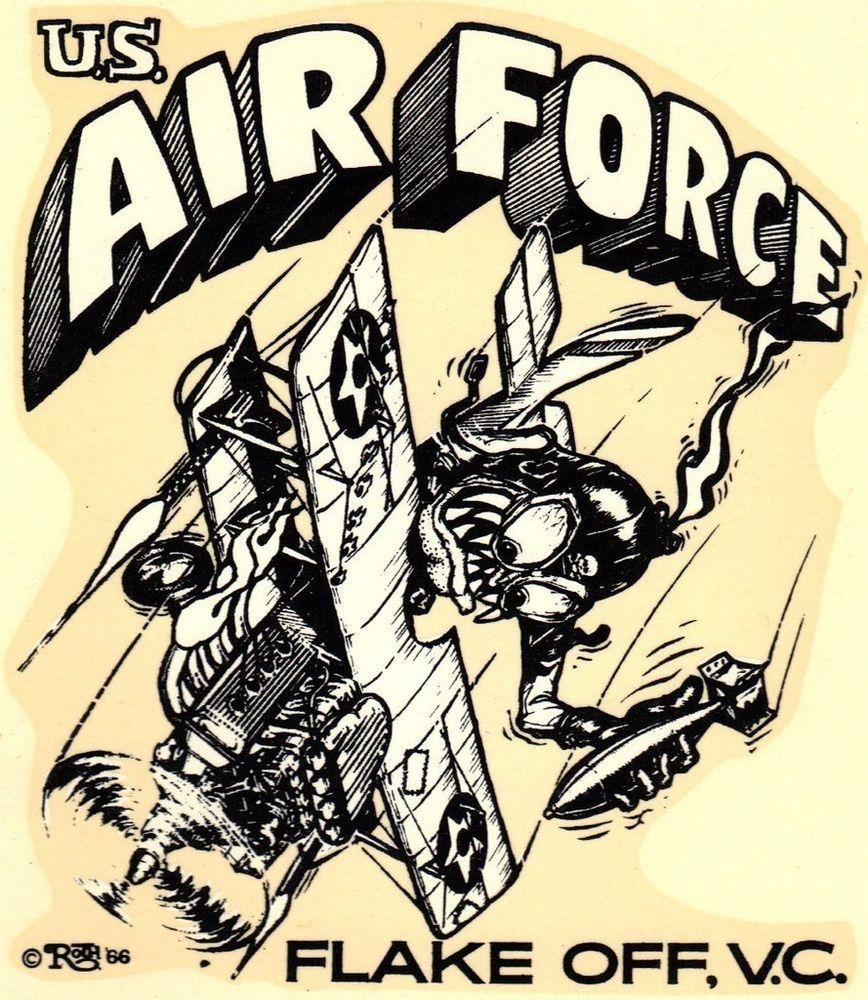 ORIGINAL VINTAGE ED ROTH DECAL AIR FORCE USAF VIETNAM WAR