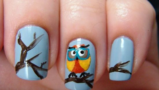 Geeky Nails Owl Nail Art And Owl Nails