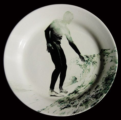 "Surf collection #surf #plate #ceramics #handpainted [THJané, ""130813"", 2013 