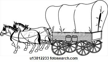 Covered wagon pictures google search wagon trains for Wagon coloring pages
