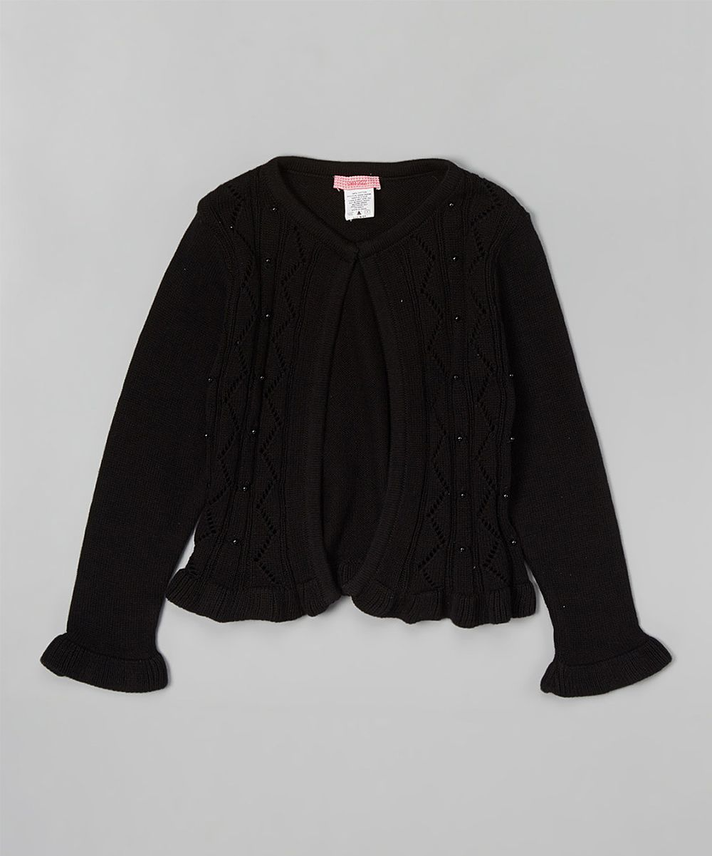 Black Sequin Ruffle Cardigan - Toddler & Girls | Products