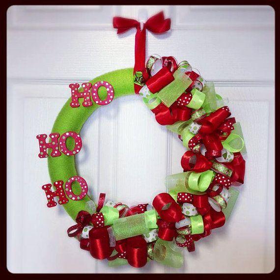 Modern Ribbon Christmas Wreath Ribbon by TayandJaeCreations1 - christmas wreath decorations