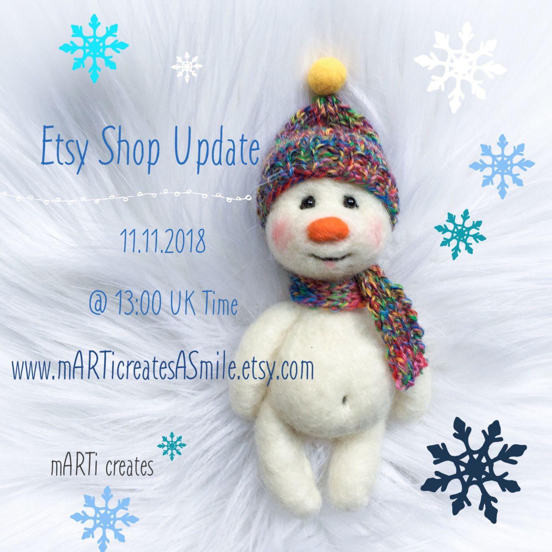 snowman cheeks Needle chubby felt