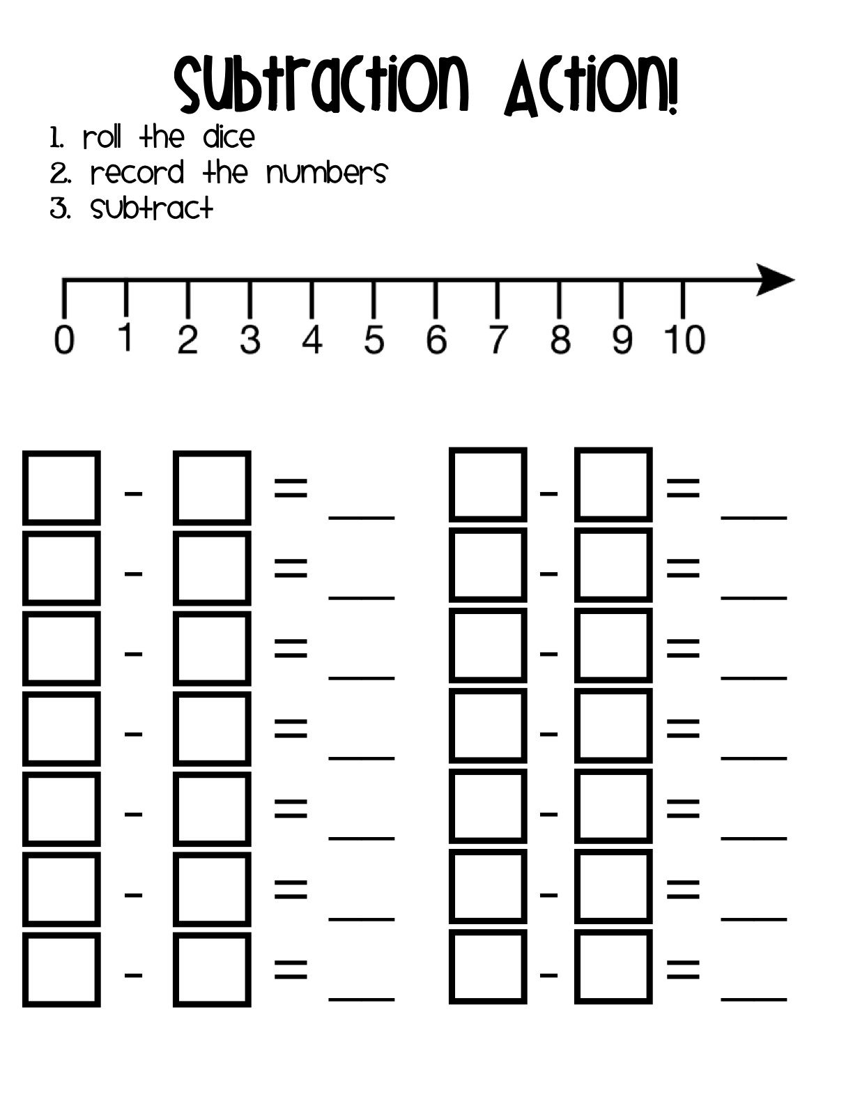 Worksheet Subtraction For Kindergarten 1000 images about subtraction kindergarten on pinterest anchor charts math and activities