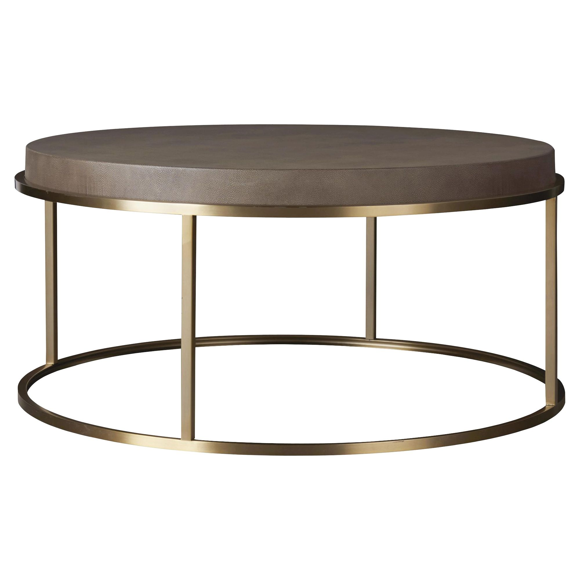 Katherine Modern Classic Brown Faux Shagreen Top Metal Round Round Coffee Table Brass Round Coffee Table Round Coffee Table Coffee Table [ 2000 x 2000 Pixel ]