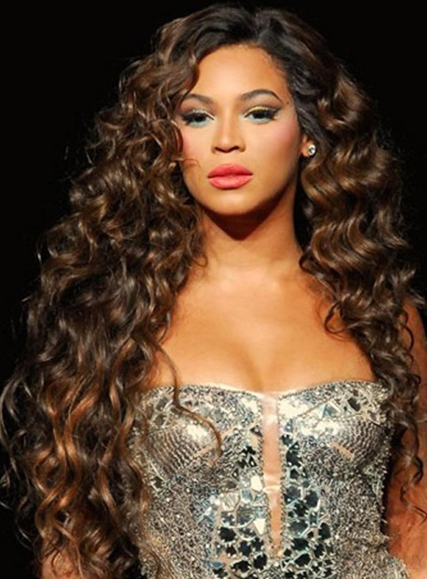 100 Human Hair Beyonce Knowles S Hairstyle Super Exquisite Long