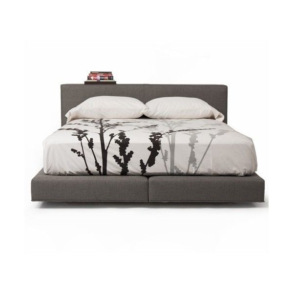 Vioski Nyla Bed With Split Platform 3 776 Liked On Polyvore Featuring Home Furniture B Bedroom Night Stands Contemporary Bedroom Furniture Bed Furniture