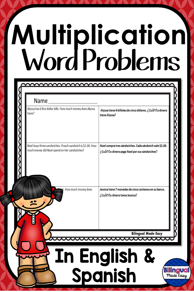Multiplication Word Problems In English Spanish Multiplication Word Problems Word Problems Word Problem Worksheets [ 1152 x 768 Pixel ]