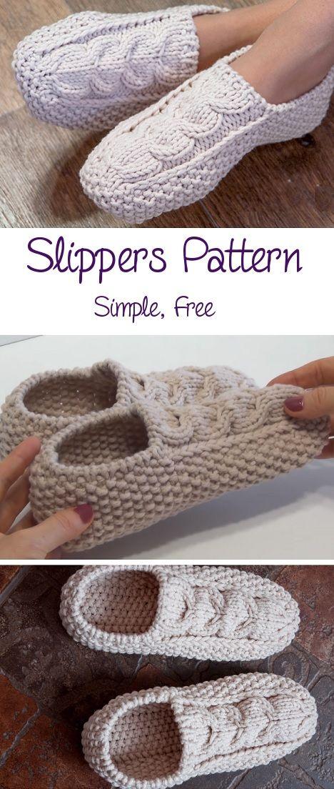 Simple, Free Slippers Pattern - Design Peak