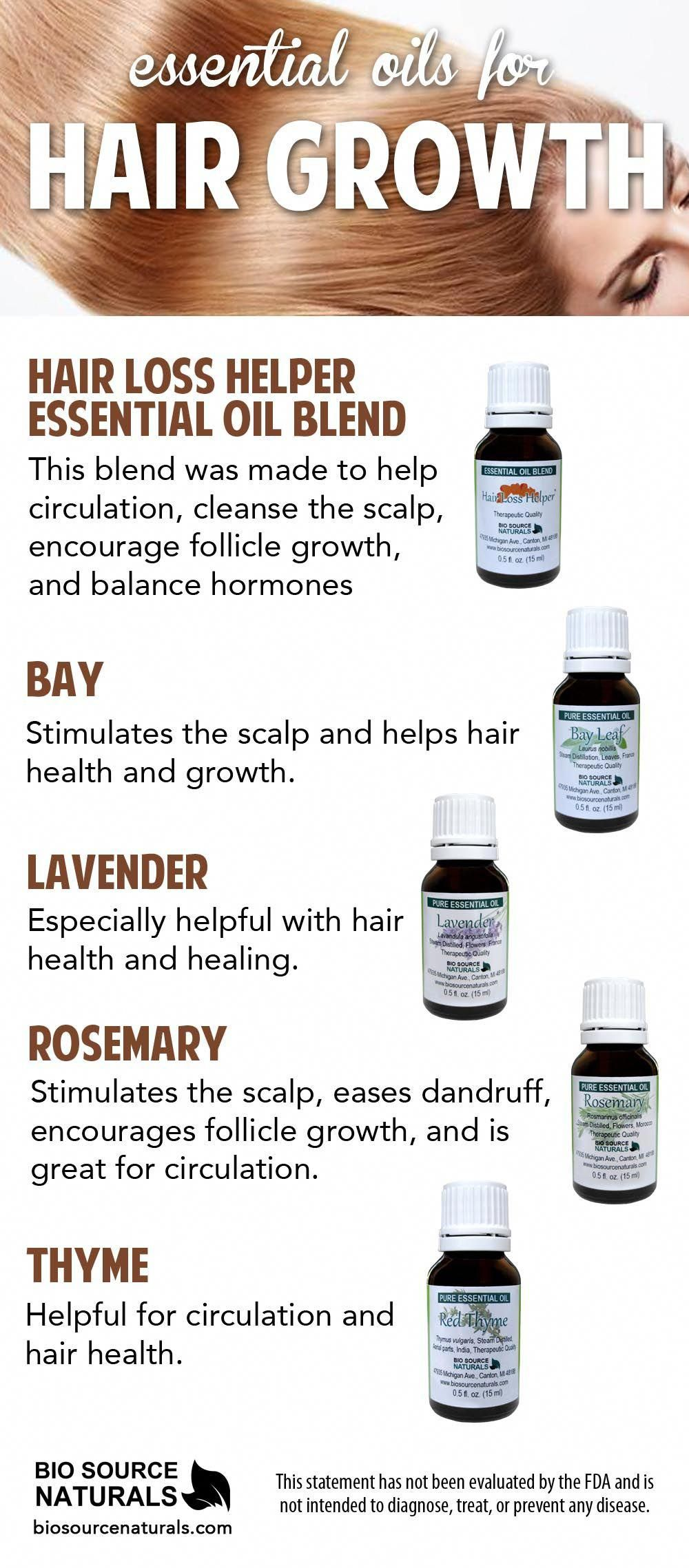 Essential oils can be used for hair loss as they cleanse