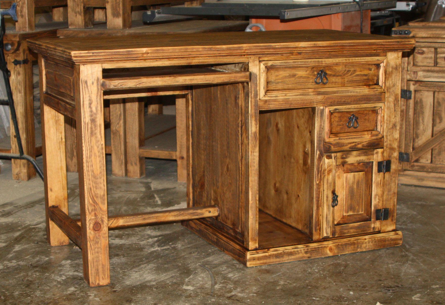 Executive office desk durango trail rustic furniture