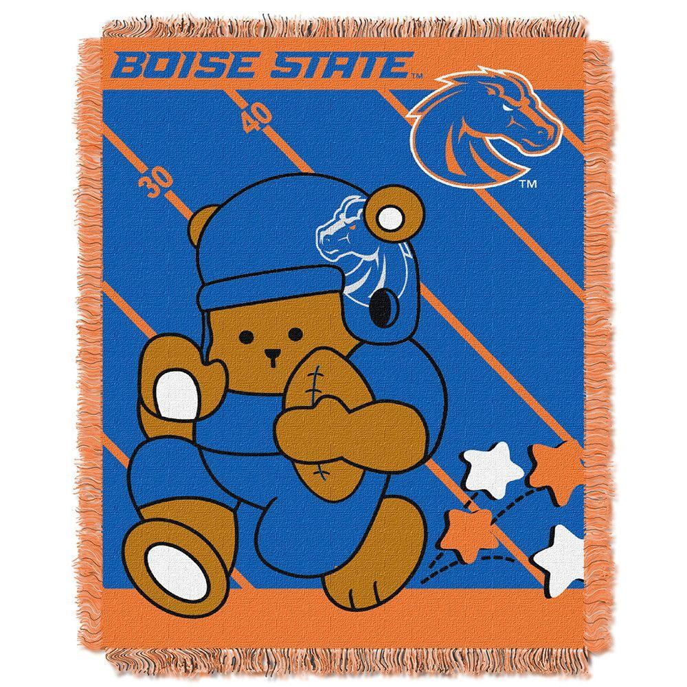 Boise State Broncos NCAA Triple Woven Jacquard Throw (Fullback Baby Series) (36x48)