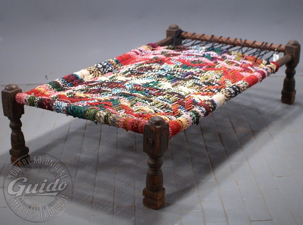 Furniture Legs India charpai - indyjskie łóżko plecione - meble | furniture / meble