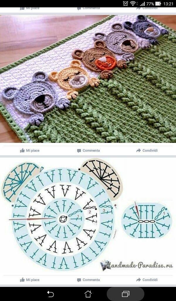Increíble Abuela Bebé Patrón De Crochet Cuadrado Viñeta - Ideas de ...
