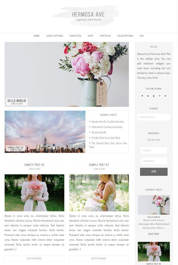 Hermosa Ave Wordpress Theme by dinosaurstew on @creativemarket | web ...
